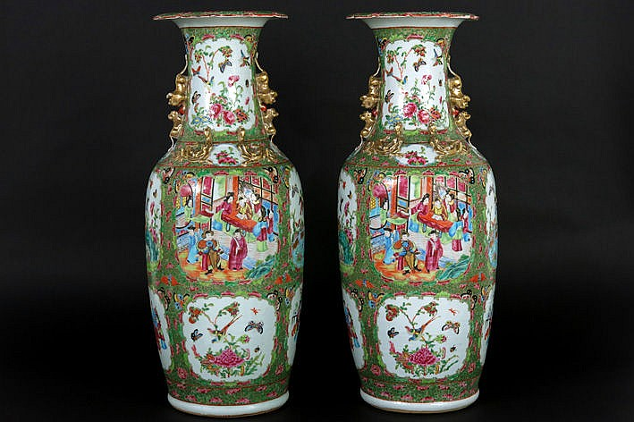 19th Cent. Chinese pair of vases in porcelain