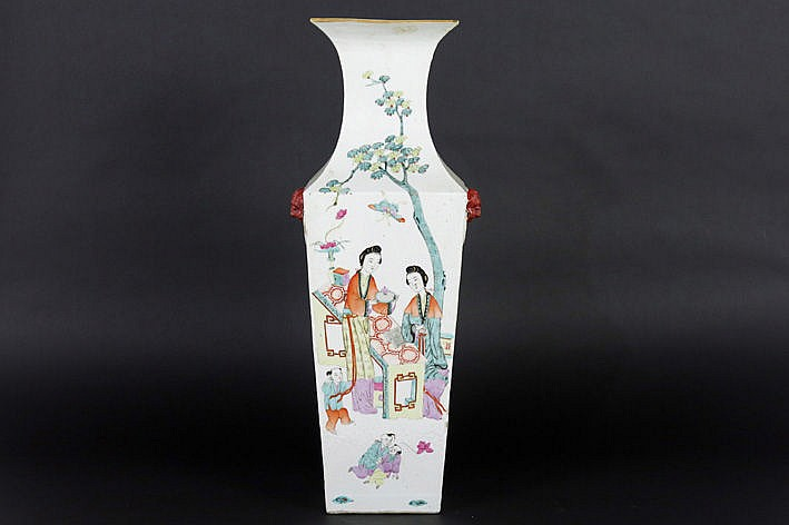 antique Chinese vase in porcelain