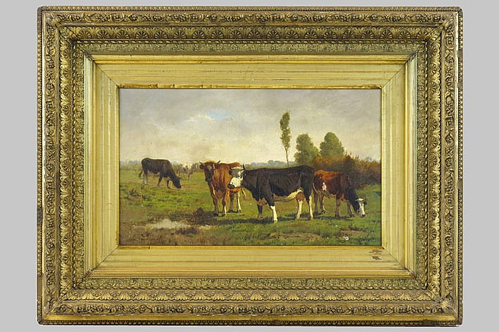 19th Century oil on canvas - signed