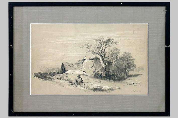 19th Cent. drawing - signed