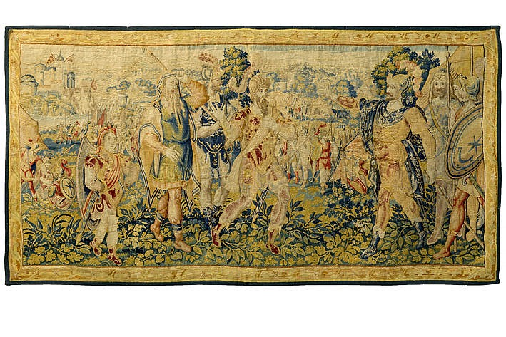 16th Cent. (complete) tapestry from Brussels in wool and silk