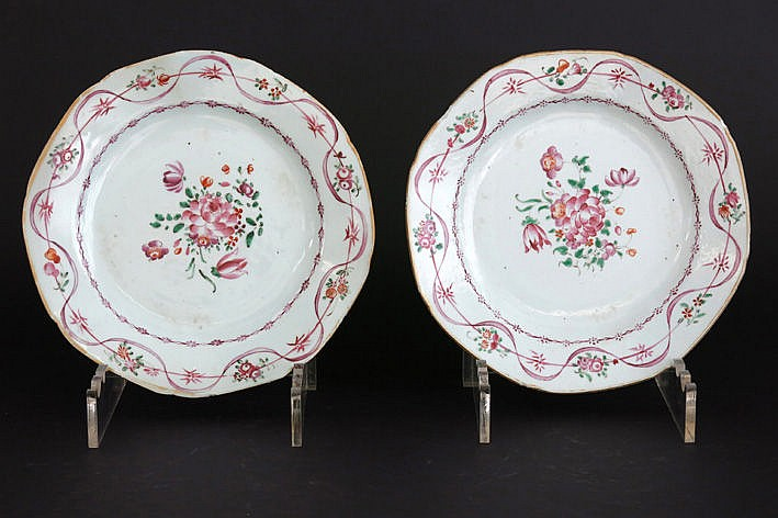 pair of 18th Cent. Chinese plates in porcelain