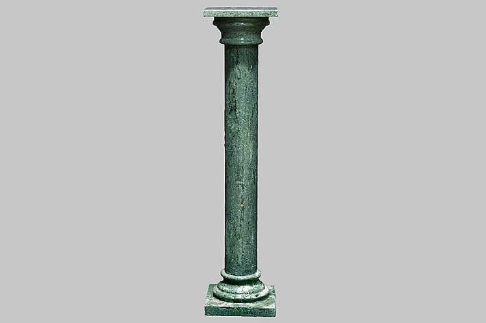 pillar in green marble