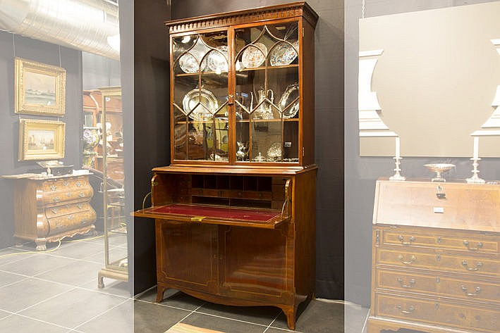late 18th Cent./early 19th Cent. bureau bookcase in mahogany