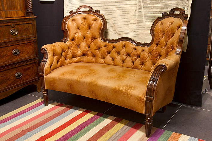 19th Cent. William IV settee in rosewood