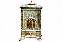 small enamelled Art Nouveau stove