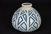 small Art Deco-vase in gr�s - signed and marked
