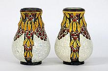pair of (�) Art Deco-vases in marked and signed earthenware
