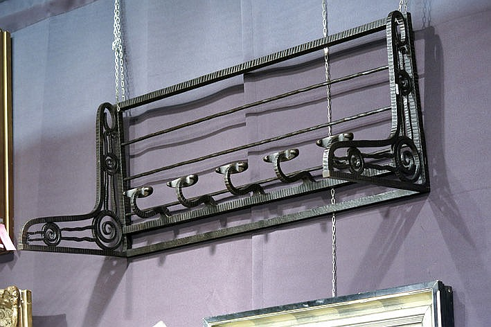 Art Deco-coat and hat rack in wrought iron
