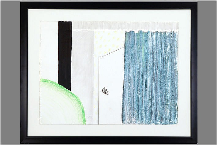 painting (mixed media) - signed and dated