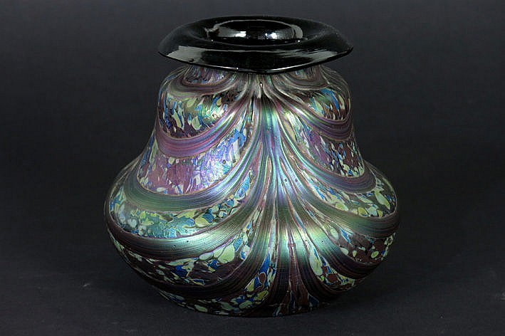 Art Nouveau Loetz vase in p�te de verre