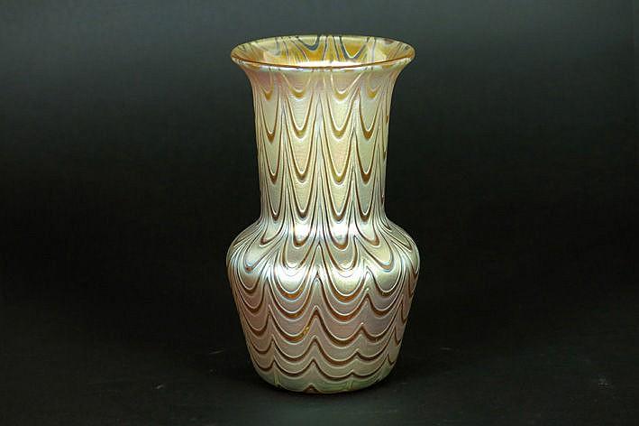 Art Nouveau Loetz vase in pate de verre