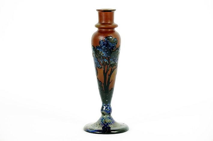 Art Nouveau-vase in p�te de verre - signed