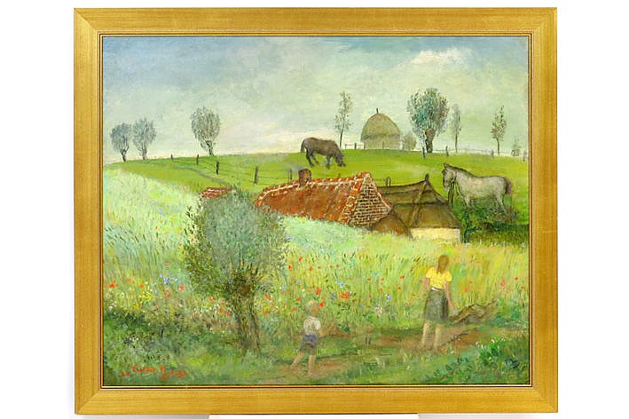 oil on canvas - signed and dated 1938
