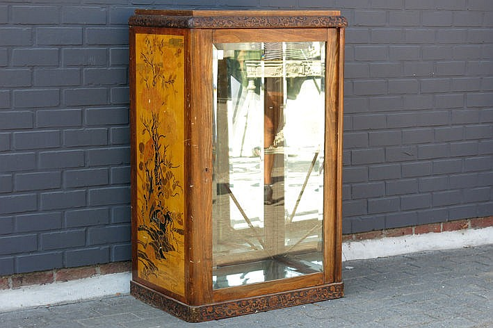 French Art Nouveau shop display-cabinet