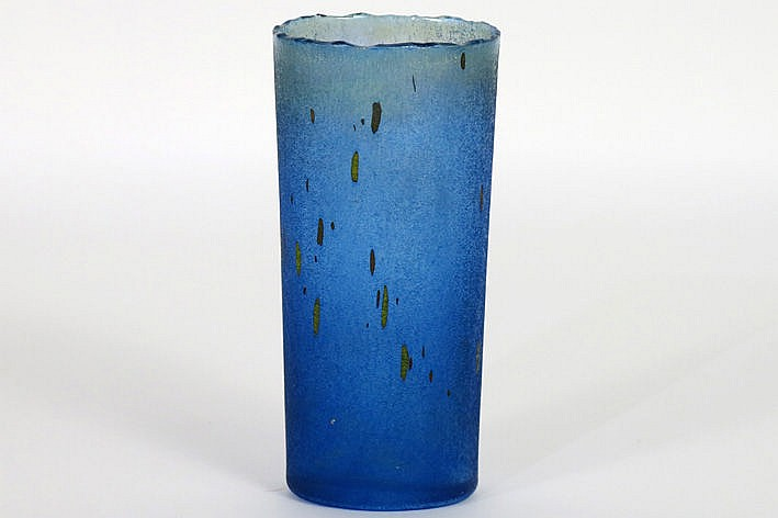 seventies' vase in marked Kosta Boda glass - signed