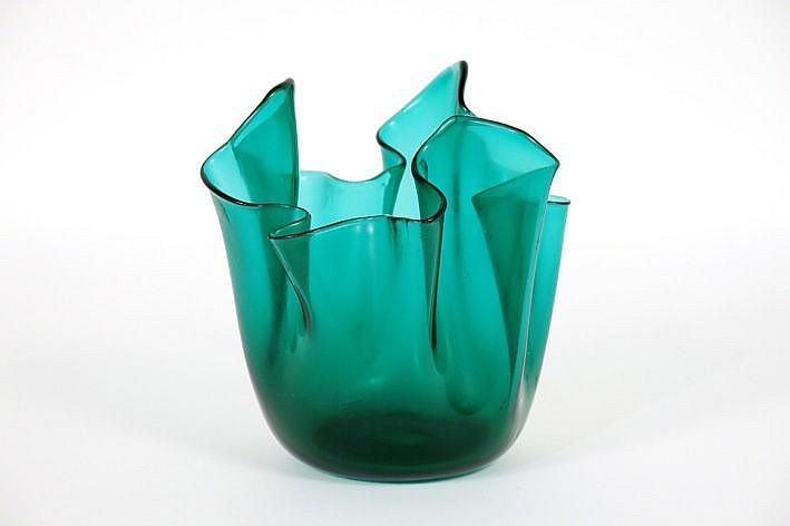 Venini vase in Murano glass - signed