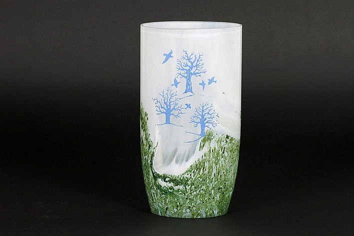 probably Danish seventies'/eighties' vase in glass and p�te de verre