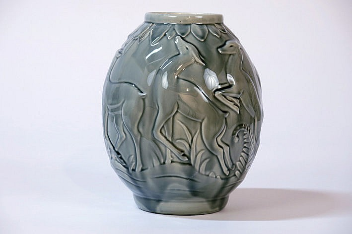 Art Deco-vase in ceramic