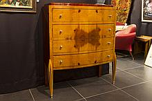 Art Deco style chest of drawers in rose-wood and other kinds of wood