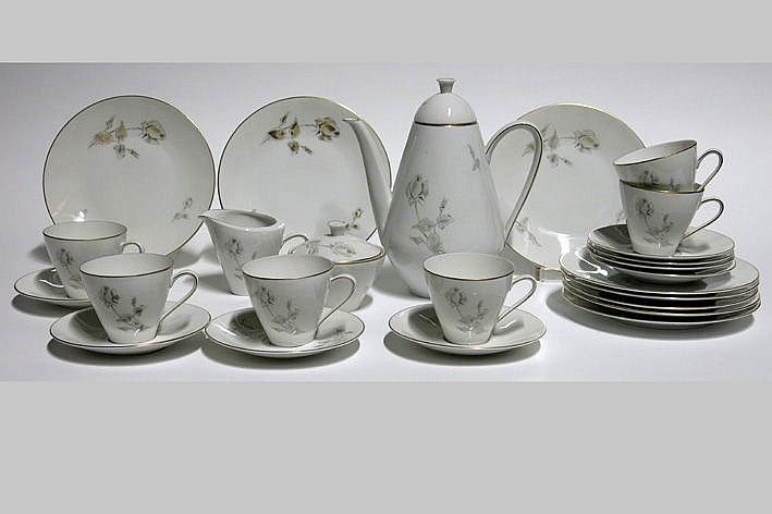 sixties' coffeeset in marked porcelain
