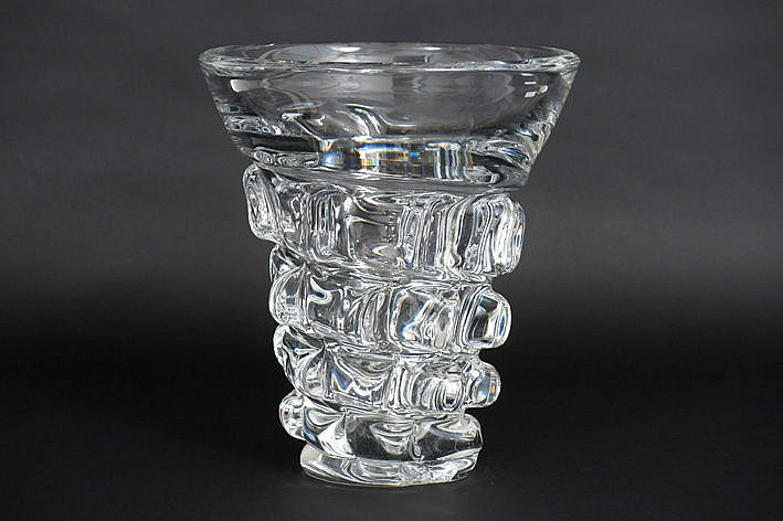 Belgian fifties' vase in crystal VSL
