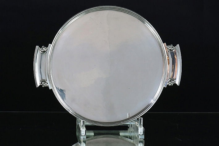 Danish late Art Deco 'G. Jensen' dish in marked and signed silver