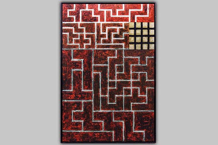 VANDEKERCKHOVE HANS (° KORTRIJK 1957) olieverfschilderij op doek :