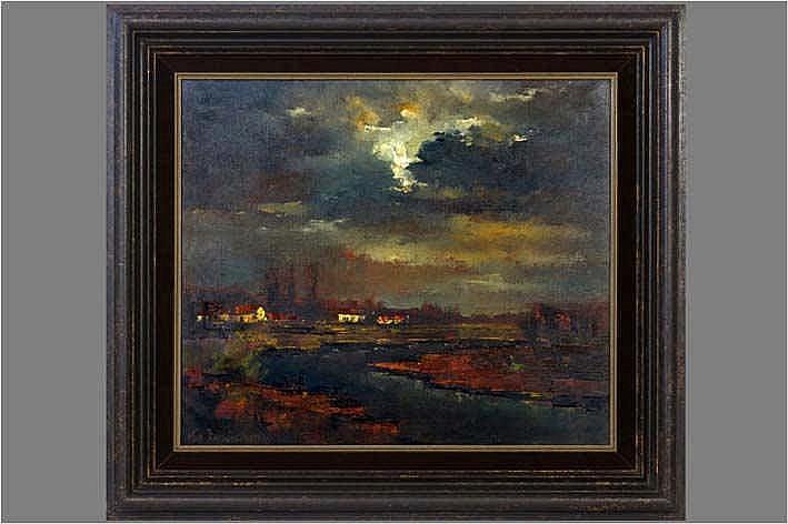 VANDERSTRAETEN LEA (° GENT 1929) olieverfschilderij op doek :