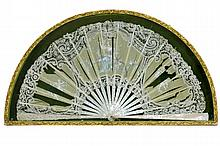 framed antique fan partially in ivory