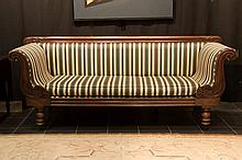 19th Cent. English William IV settee in mahogany