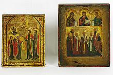 two small and antique Russian icons