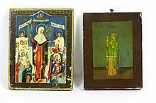 two small 19th Cent. Russian icons