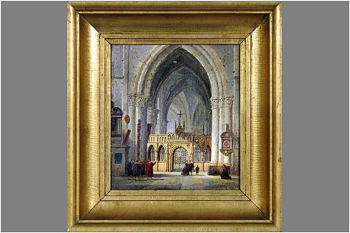 19th Cent. Belgian oil on canvas - signed and dated