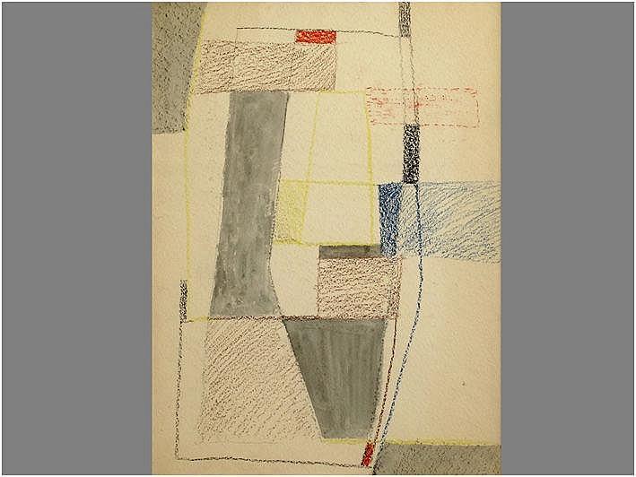 LEWY KURT (1898 - 1963) werk in gemengde techniek
