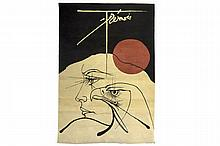 20th Cent. tapestry with a typical 'Trémois' drawing - signed