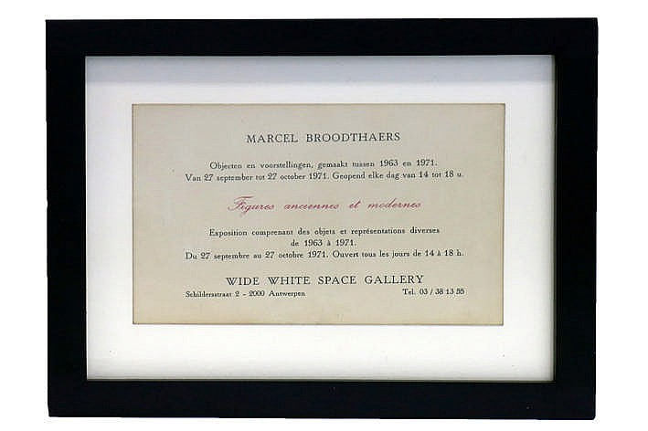 Marcel Broodthaers' invitation card/poster for the exhibition