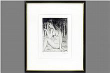 20th Cent. Belgian print (vernis mou) - signed