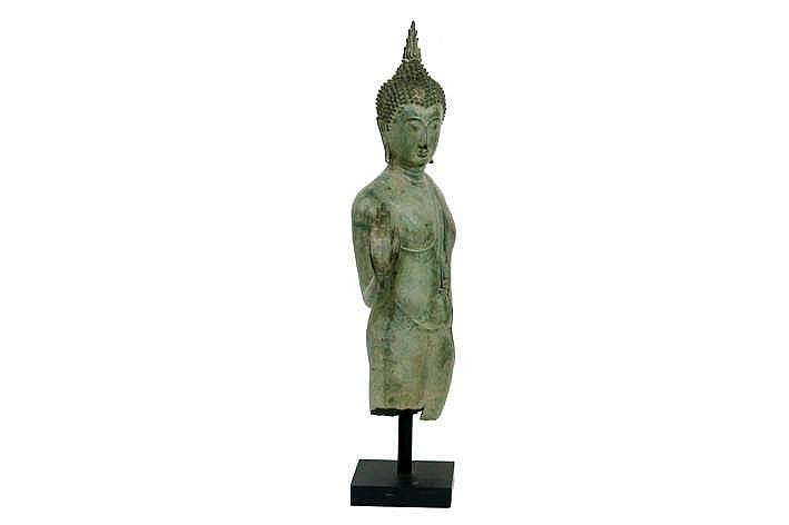 Siamese sculpture in bronze with greenish patina - Stijl asiatique ...