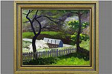 twenties' oil on canvas - signed