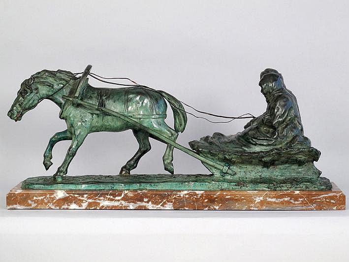 BIJA AUGUSTE (1872 - 1957) sculptuur in brons met