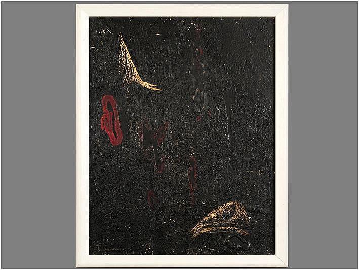 VAERTEN JAN (1909 - 1980) materiewerk op paneel :