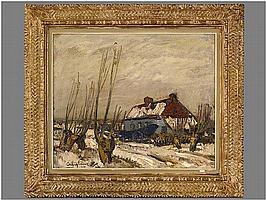 CREYTENS JULIEN (1897 - 1972) olieverfschilderij