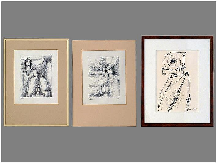 MINNEBO HUBERT (° BRUGGE 1940) van een tekening en
