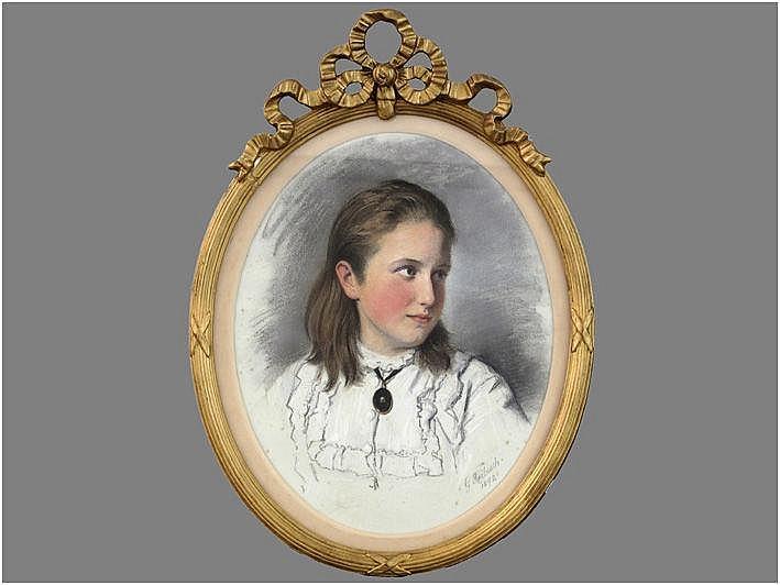 REIBISCH GÜNTHER FRIEDRICH (1816 - 1899) pastel :