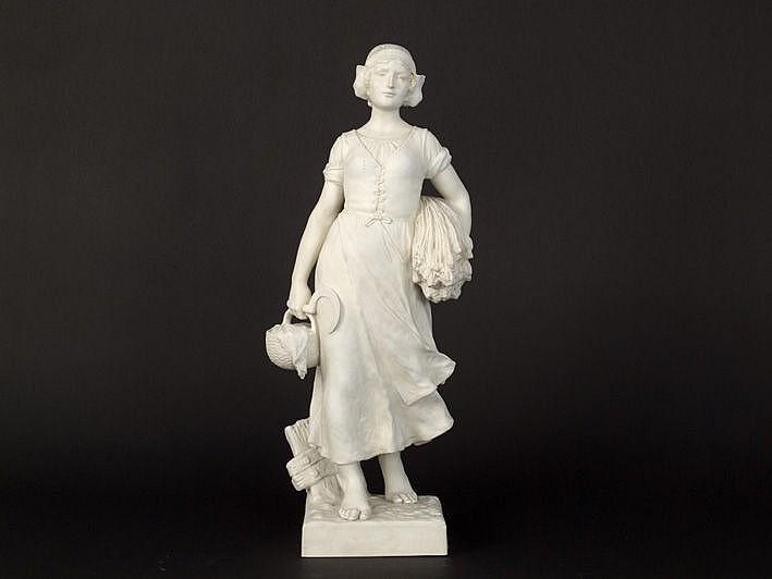 BOUVAL MAURICE (1860 - 1926) antieke sculptuur in