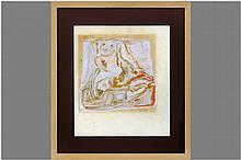 DIERICKX KAREL (1940 - 2014) werk in gemengde techniek: Compositie - 42,5 x 36,5 getekend en gedateerd 1965