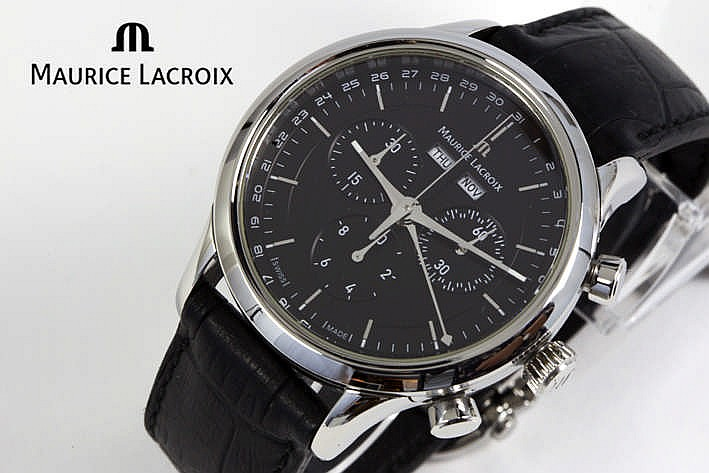 MAURICE LACROIX volledig origineel quartz chronograaf polshorloge met kalender - model