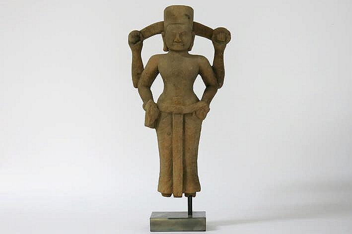 CAMBODJA - PRE-ANGKOR PERIODE - VROEG 7°/8° EEUW (?) Khmer-sculptuur :