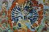 TIBET - 19° EEUW (of vroeger) tangka met een tantrisch-boeddhistische voorstelling waarschijnlijk van de godheid